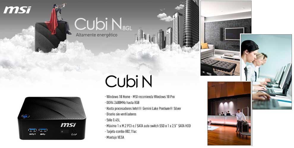 MSI Cubi N ideal para innumerables aplicaciones