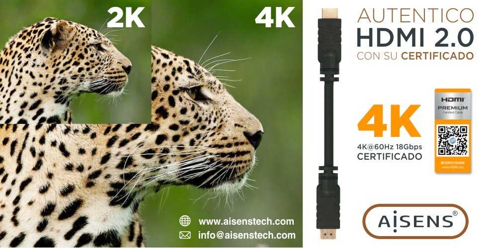 mejor precio cable hdmi 2.0 certificado