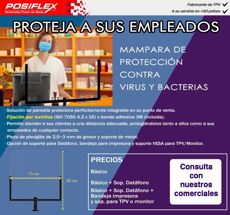 comprar mampara de protección coronavirus