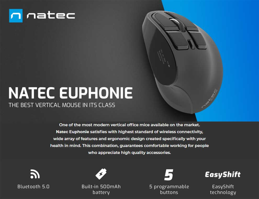 mejor precio natec ratón vertical ergonomico