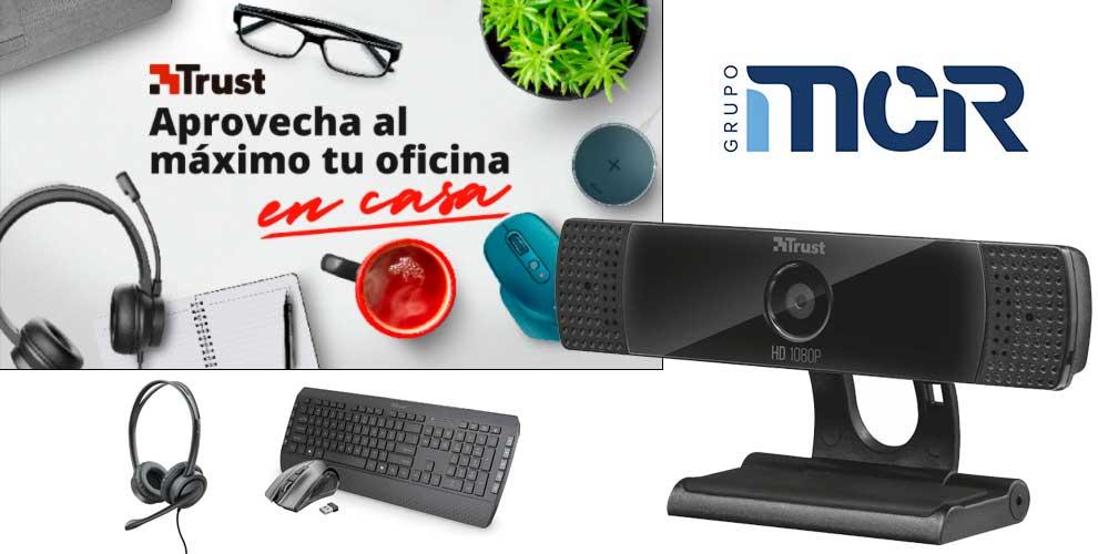 promoción webcams y teclados Trust