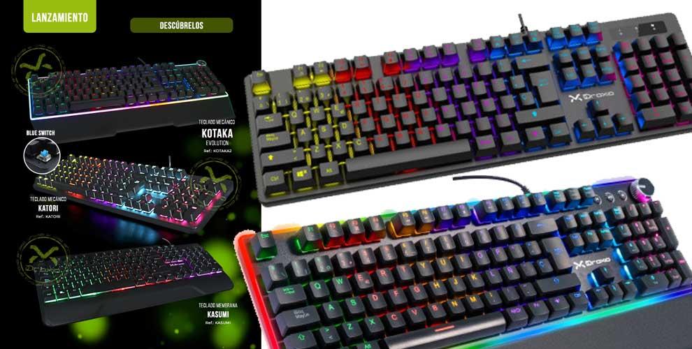 novedad teclados gaming Droxio