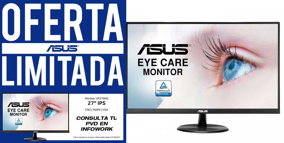 mejor precio monitor 27 pulgadas Asus