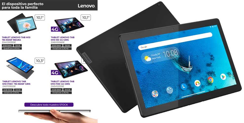 Lenovo descuento tablets para toda la familia