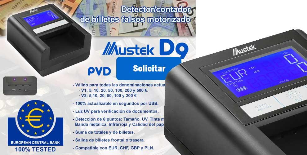 comprar mustek d9 detector billete falso